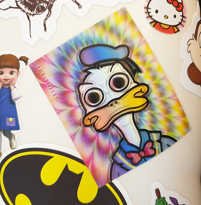 Tripped Out Ducky Sticker