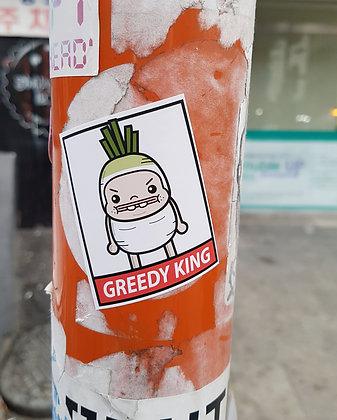 Greedy Radish Sticker
