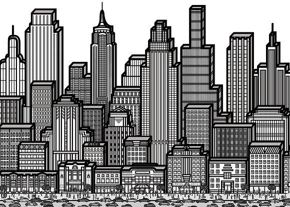 Art Deco City Poster