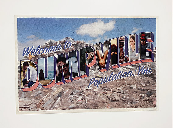 Welcome to Dumpville Postcard