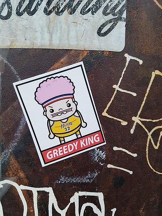 Greedy Johnson Sticker