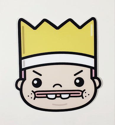 Greedy King Sticker