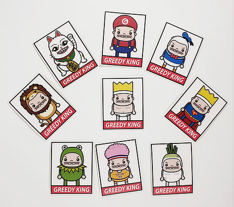 Greedy Kings Square Sticker Set