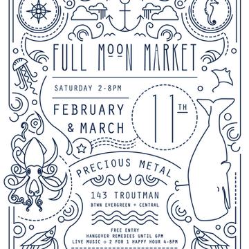Full Moon Market Bushwick flyer design