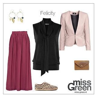 Top Felicity gestyld voor MIss Green
