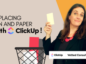 Why switch from pen and paper to digital task management systems - like ClickUp!