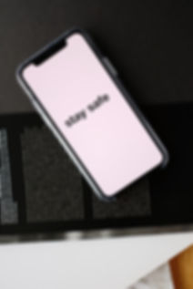 smartphone-with-stay-safe-title-on-open-