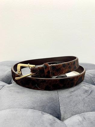 Ceinture léopard en cuir