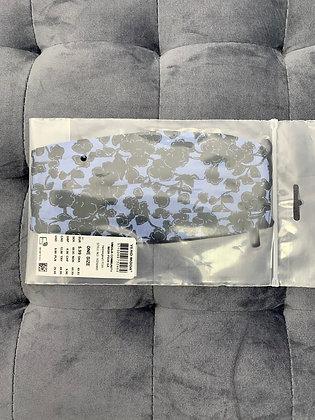 Masque lavable fleuri bleu et noir