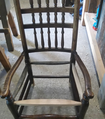 Sussex type chair frame
