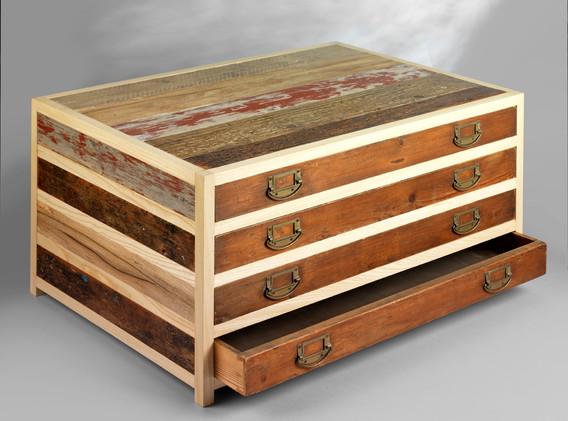 Plan chest - open drawer