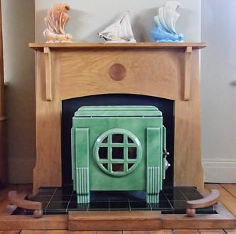 art deco fireplace