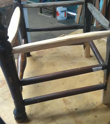 Sussex type chair stretcher rails