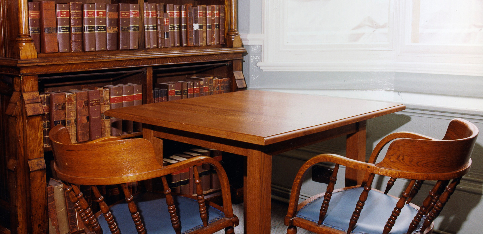 Library reading tables.
