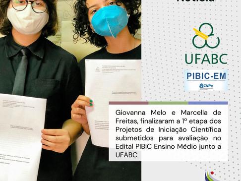 PIBIC ENSINO MÉDIO E UFABC - UNIVERSIDADE FEDERAL DO ABC