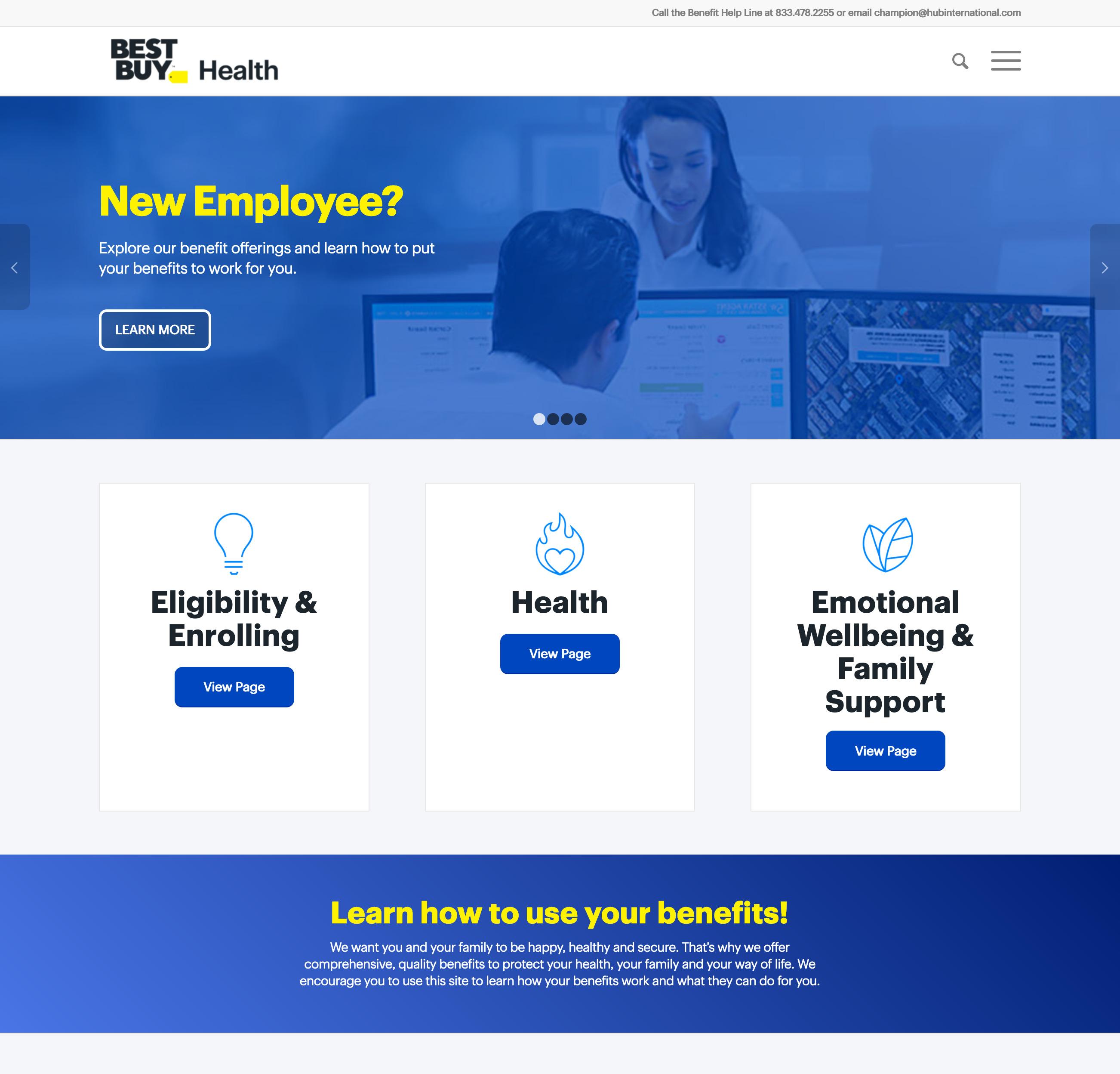 Best Buy Health Website