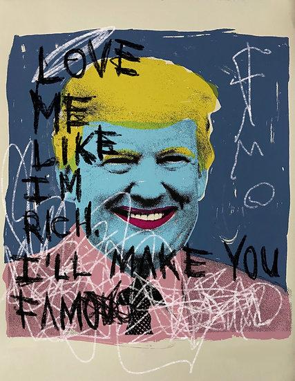 Famo - Trump (hand embellished)
