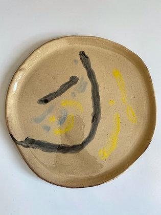 Heloïse Bariol, grande assiette en terre vernissée