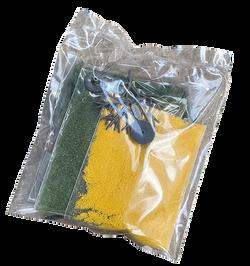 ターフ(緑色ブレンド)、ターフ(黄色)、樹木の幹(2本)、クランプフォーリッジ(緑色)