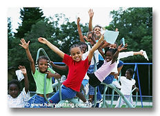 Kids Playing on Playground - Day Care in Lancaster, TX | Peaceful Images Child Development Center