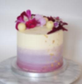 semi naked flower fruit cake cak topper