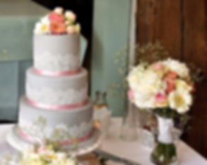 floral lace 3 tier wedding cake
