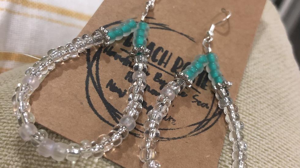 Mae Earrings, clear 172
