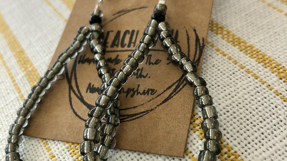 Mae Earrings, steel gray 137