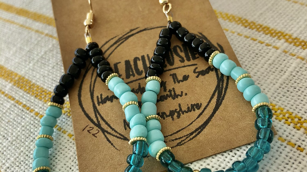 Mae Earrings, turquoise 122