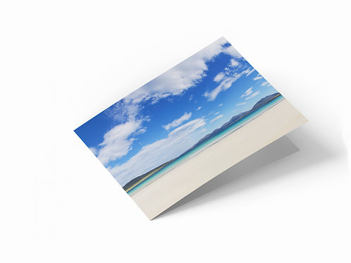 "Luskentyre Beach, Isle of Harris 7"" x 5"" Landscape Greetings Card"