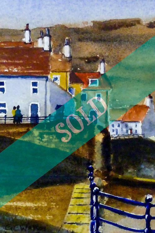 Shadows of Staithes Original Watercolour Painting