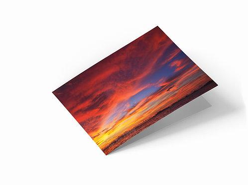 """Klong Muang Beach Sunset 7"""" x 5"""" Landscape Greetings Card"""