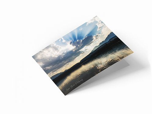 "Rocky Mountains, Jasper National Park 7"" x 5"" Landscape Greetings Card"
