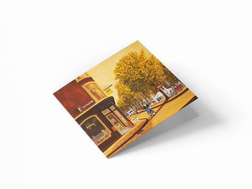 "Peperstraat, Amsterdam 6"" x 6"" Square Greetings Card"