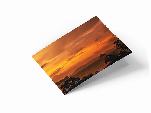 "Golden Hour, Klong Muang, Thailand 7"" x 5"" Landscape Greetings Card"