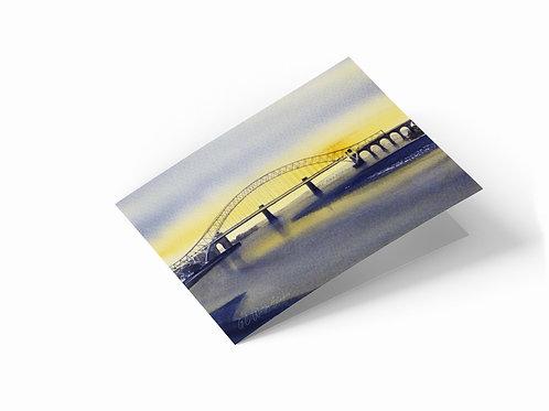 "River Mersey, Runcorn, Cheshire 7"" x 5"" Landscape Greetings Card"