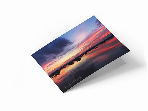 "Mirrored Sunset, Klong Muang, Thailand 7"" x 5"" Landscape Greetings Card"