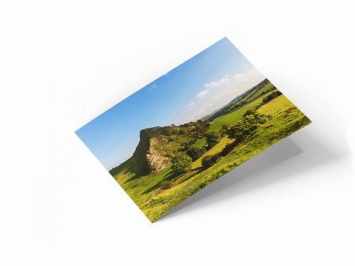 "Chrome Hill, Peak District 7"" x 5"" Landscape Greetings Card"