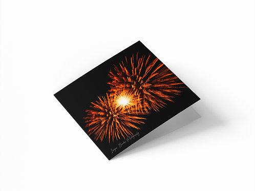"Firework Burst 6""x 6"" Square Greetings Card"