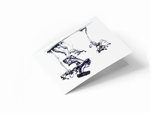 "Ink Trails 7"" x 5"" Landscape Greetings Card"
