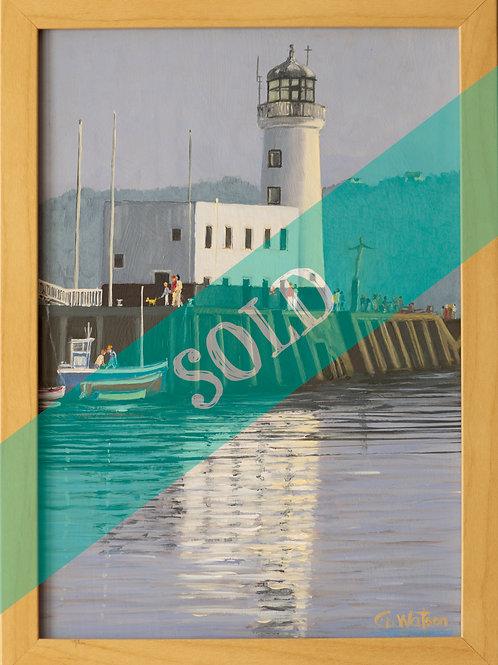 Scarborough Lighthouse Original Oil Painting