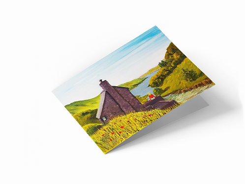 "Bothy View 7"" x 5"" Landscape Greetings Card"