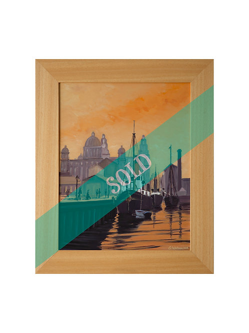 Liverpool 1910 Original Oil Painting