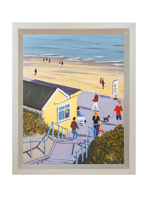 Beach Cafe, Southwold Original Oil Painting