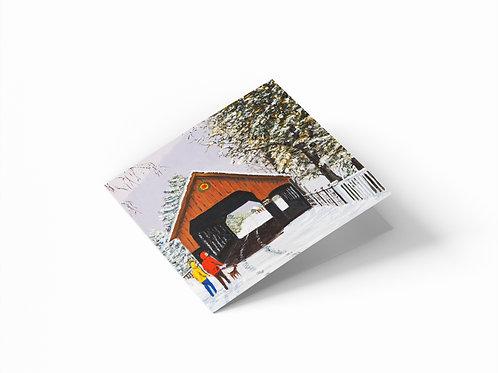 "Winter in Woodstock 6"" x 6"" Square Greetings Card"