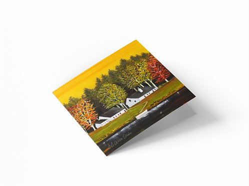 "Black Lake Vermont 6"" x 6"" Square Greetings Card"