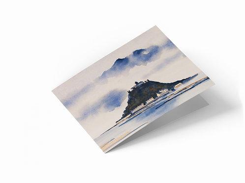 "Saint Michael's Mount, Cornwall 7"" x 5"" Landscape Greetings Card"