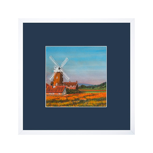Norfolk Windmill Original Pastel Drawing