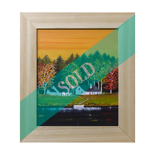 Black Lake Vermont Original Oil Painting