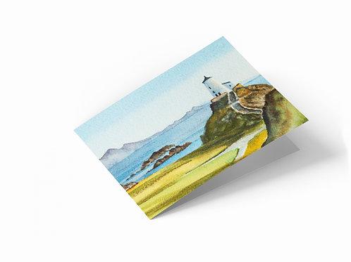 "Llanddwyn Island Lighthouse, Angelsey, Wales 7"" x 5"" Landscape Greetings Card"